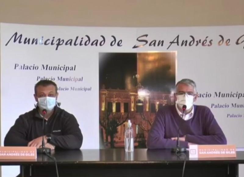Conferencia de prensa de Fernando Romero y Carlos Puglelli.