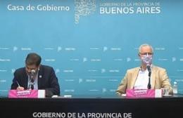 El jefe de Gabinete, Carlos Bianco, junto al ministro de Salud, Daniel Gollan.