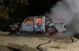 Sospechoso incendio de una camioneta
